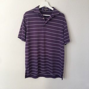 Men's Peter Millar Summer Comfort Purple Polo Sz M